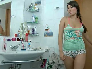 Chubby Teen Eleonora Fucks Her Step Brother In The Bathroom
