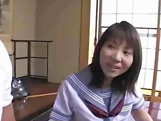Young Japanese Schoolgirl Takes Off Her Uniform And Fucks